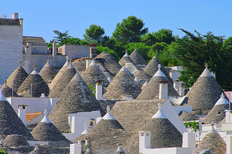 Trulli. Houses in southern Italy royalty free stock image