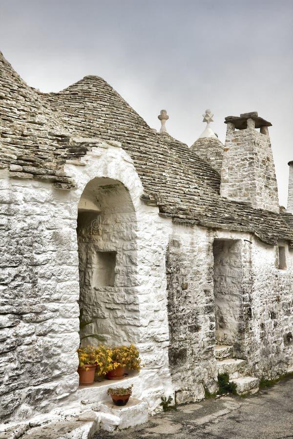Trulli. Beautiful trulli houses in Puglia, Italy stock photo