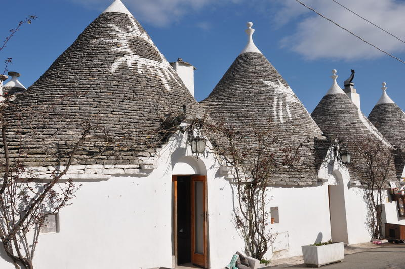 Trulli in Alberobello royalty free stock images