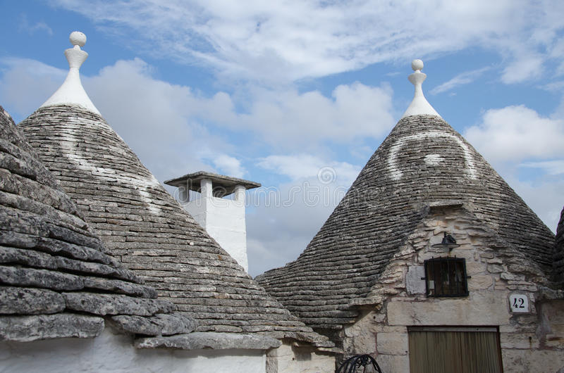 Trulli in Alberobello, Apulia, Italy royalty free stock photo