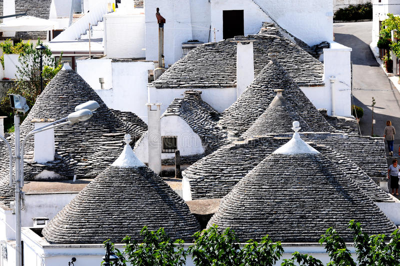 Trulli in Alberobello. Alberobello is a small town in the south of Italy. It is famous for the trulli houses. the town is part of the UNESCO world heritage site royalty free stock photos