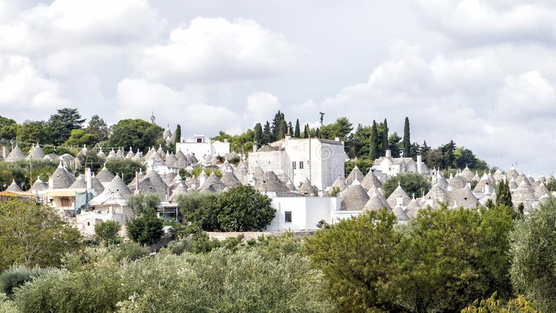 Trulli d'Alberobello, un site de patrimoine mondial de l'UNESCO photo stock