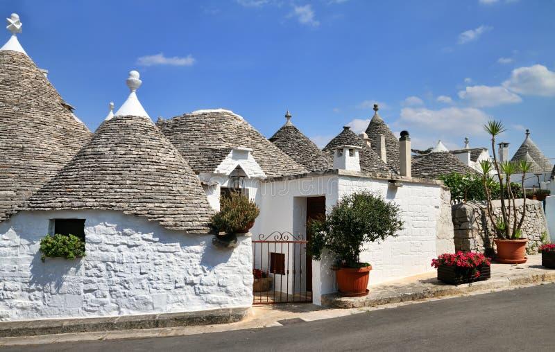 Trulli houses. In Alberobello, Apulia; Italy royalty free stock image