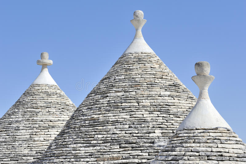Trulli houses at Alberobello, Puglia, Italy stock image