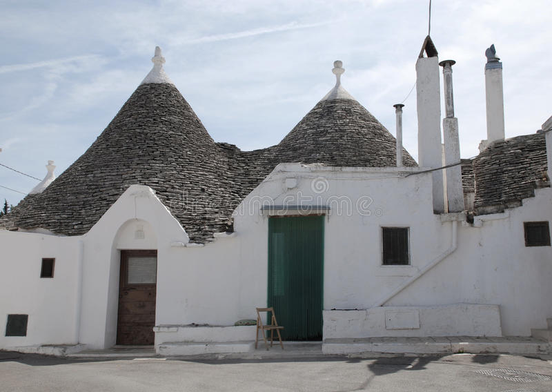 Trulli Houses, Alberobello. Traditional trulli houses in Alberobello in Puglia, southern Italy. The trulli, which are protected under UNESCO World Heritage laws stock photos