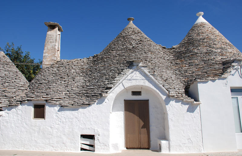Trulli Houses. Traditional trulli houses in Alberobello in Puglia, southern Italy. The trulli, which are protected under UNESCO World Heritage laws, are stock images