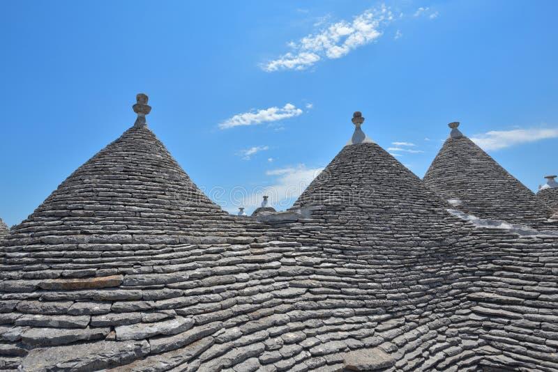 Trulli-Steinhäuser von Alberobello Puglia, Süd-Italien lizenzfreie stockfotografie