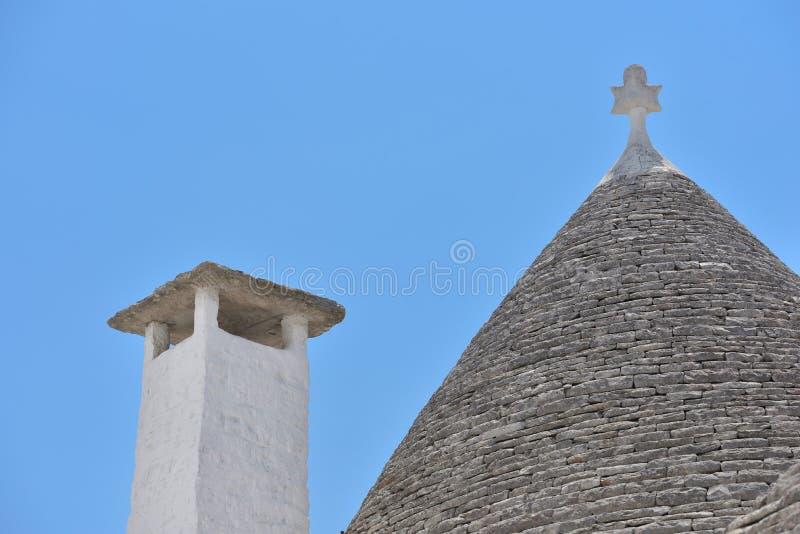 Trulli-Steinhäuser von Alberobello Puglia, Süd-Italien lizenzfreies stockfoto