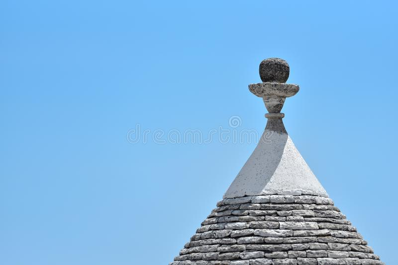Trulli-Steinhäuser von Alberobello Puglia, Süd-Italien stockfotografie