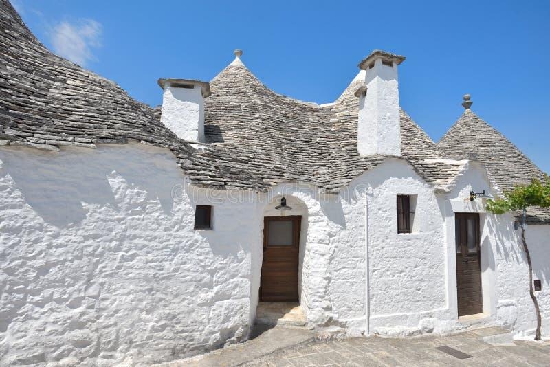 Trulli stone houses of Alberobello. Puglia, southern Italy.  stock image