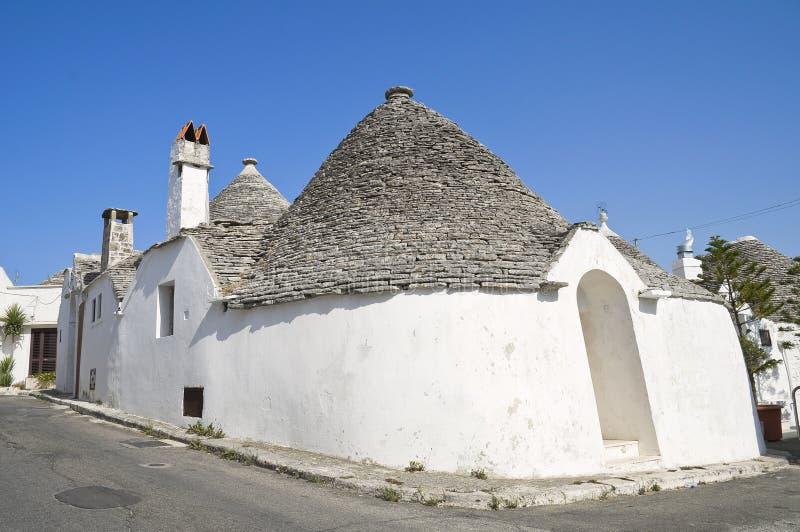Trullo. Alberobello. Apulia. imagem de stock