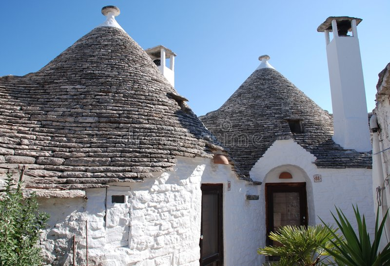Trullo in Alberobello, Italy. A traditional trullo house in Alberobello in Puglia, southern Italy. The trulli, which are protected under UNESCO World Heritage royalty free stock photography