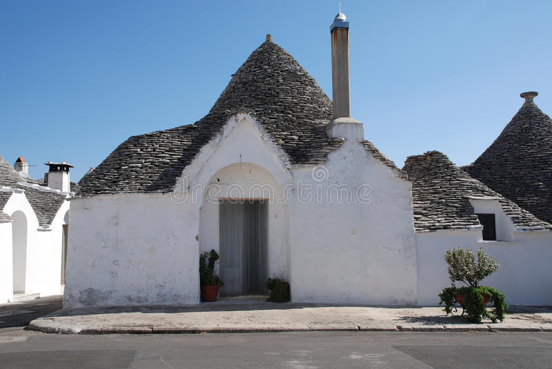 Trullo in Alberobello. A traditional trullo house in Alberobello in Puglia, southern Italy. The trulli, which are protected under UNESCO World Heritage laws, are stock images