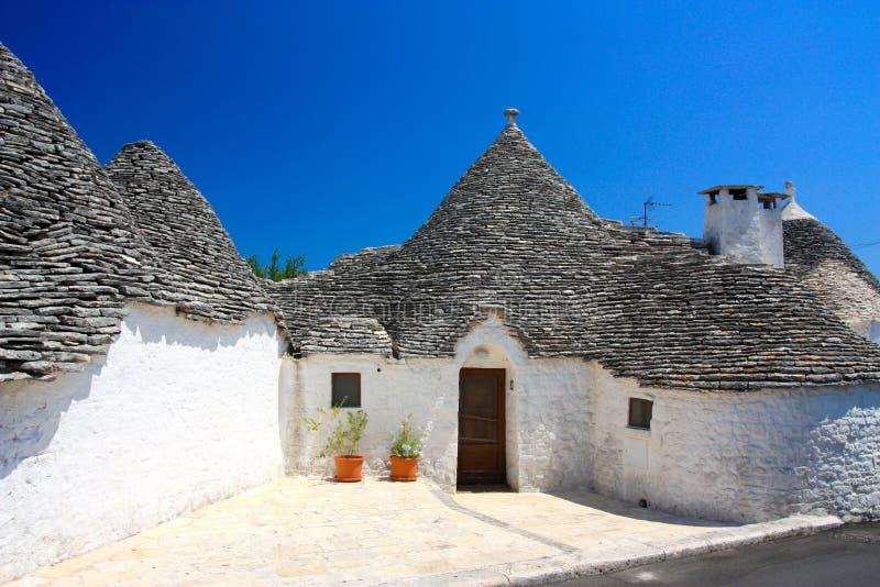 Trullo bei Alberobello stockfoto