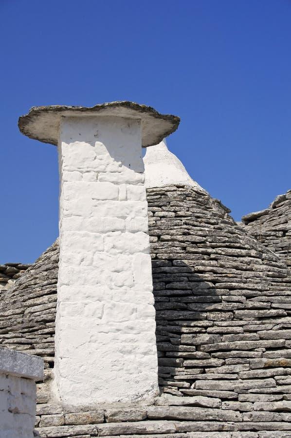 Trullo Chimney-pot. Alberobello. Apulia. stock image