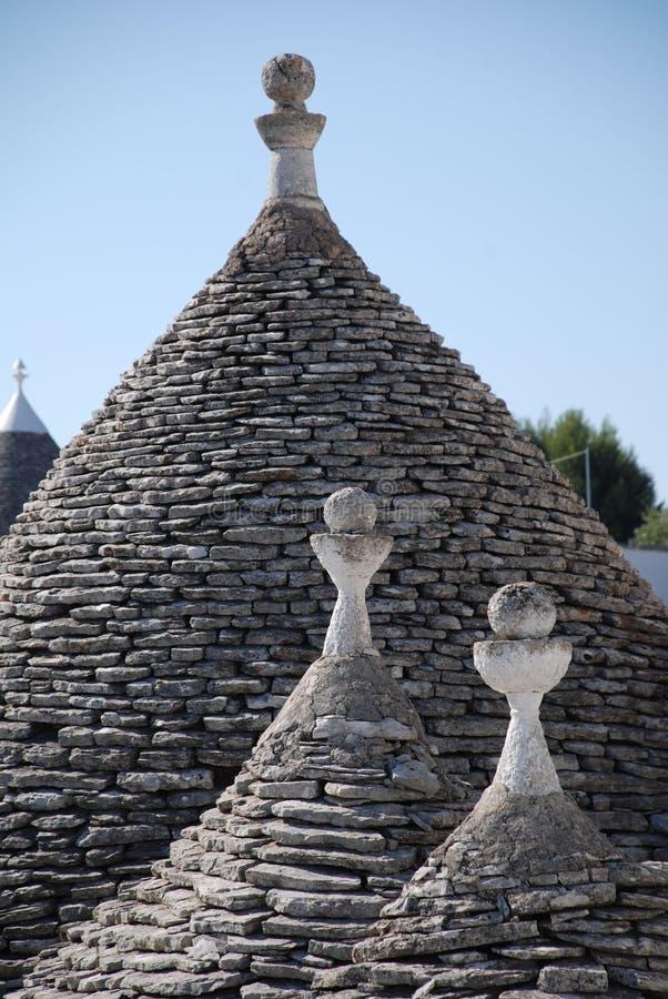 Trullo-Dach stockfoto