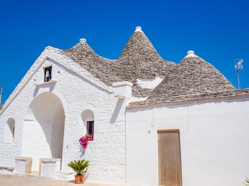 Trullo Maggiore, Alberobello, UNESCO dziedzictwo, Puglia, Włochy obraz royalty free