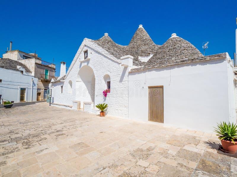 Trullo Maggiore, Alberobello, UNESCO dziedzictwo, Puglia, Włochy obrazy stock