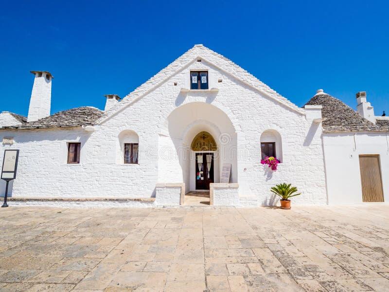 Trullo Maggiore, Alberobello, UNESCO dziedzictwo, Puglia, Włochy fotografia royalty free