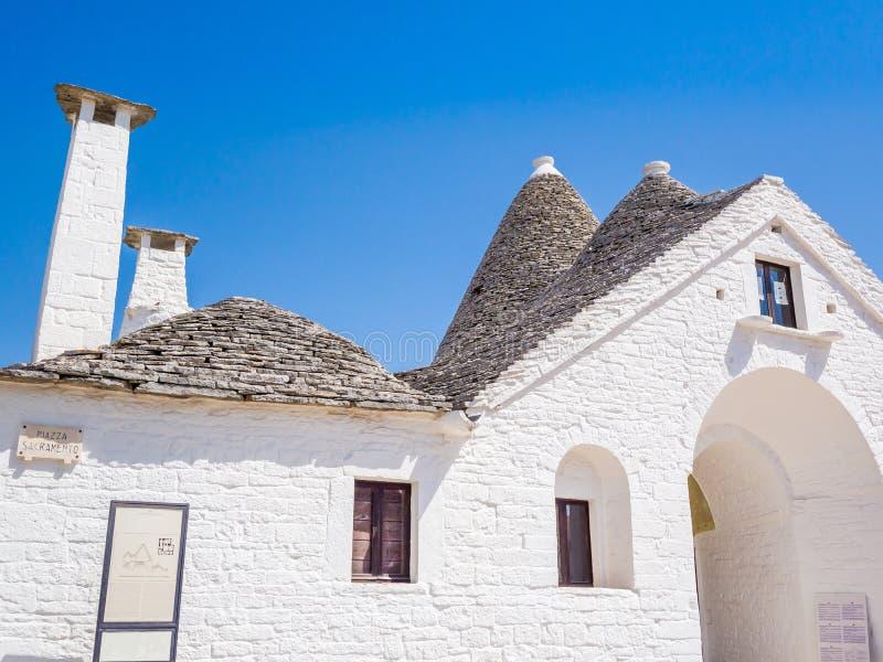 Trullo Maggiore, Alberobello, UNESCO dziedzictwo, Puglia, Włochy zdjęcie stock