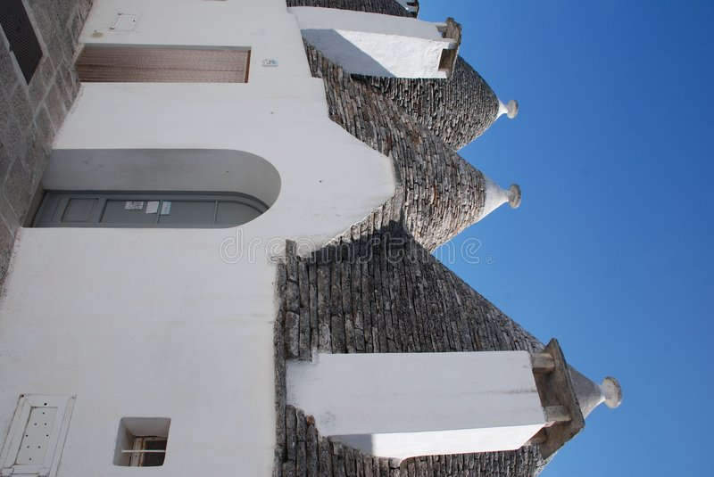 Trullo in Puglia, Southern Italy. A traditional trullo house in Alberobello in Puglia, southern Italy. The trulli, which are protected under UNESCO World royalty free stock photo