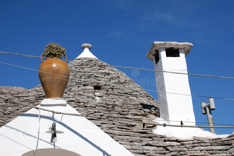 Trullo Roof with Vase stock image