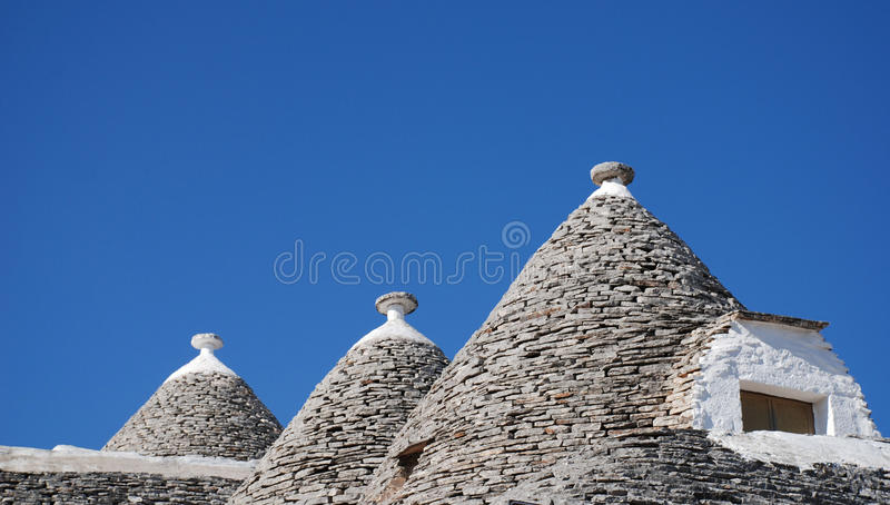 Trullo Roof with Window, Alberobello royalty free stock images