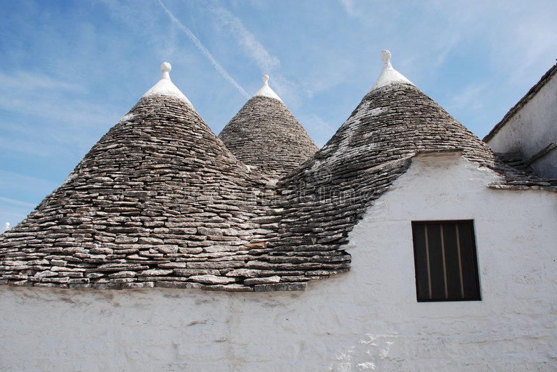 Trullo Roof with Window,Puglia royalty free stock photos