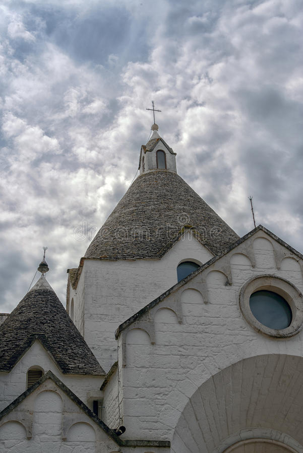 Trullo Village Church stock image