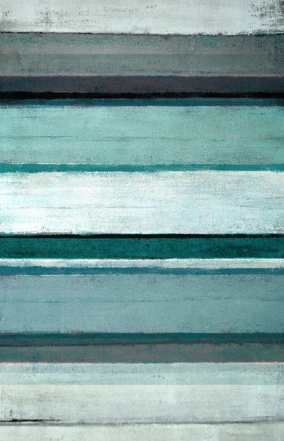 Trullo y Grey Abstract Art Painting fotos de archivo