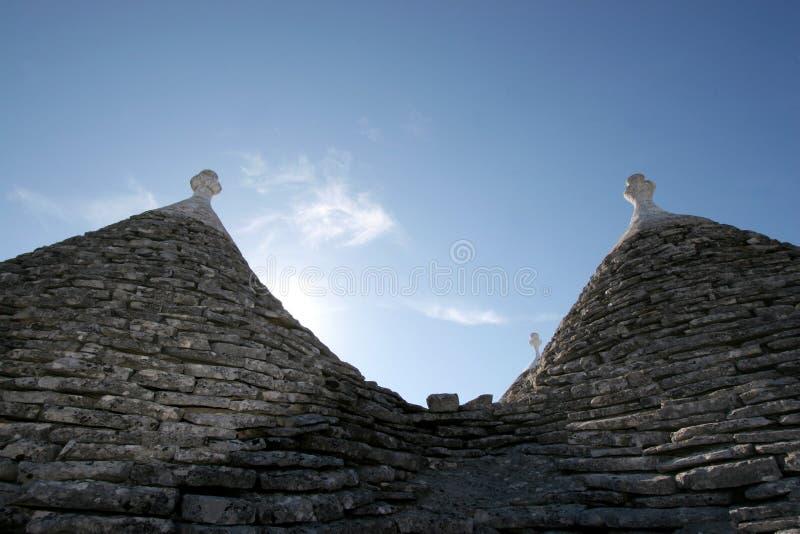 Trully Alberobello Italië royalty-vrije stock afbeelding