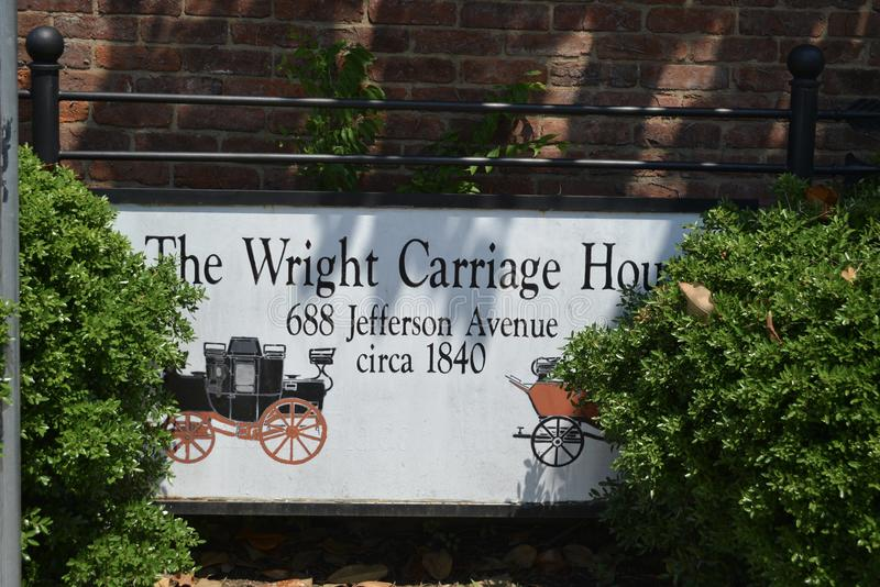 The Wright Carriage House in Historic Central Gardens in Memphis, TN stock photos