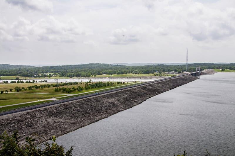 Truman湖和水坝在Warasaw密苏里美国 库存照片