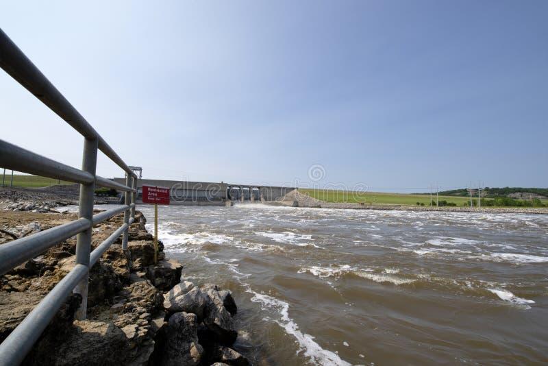 Truman湖水坝,洪水 库存照片