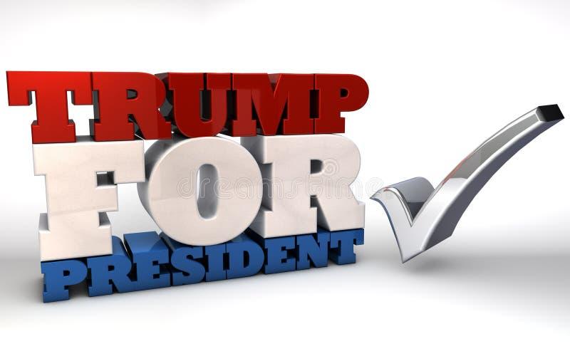 Trumf för president royaltyfri illustrationer