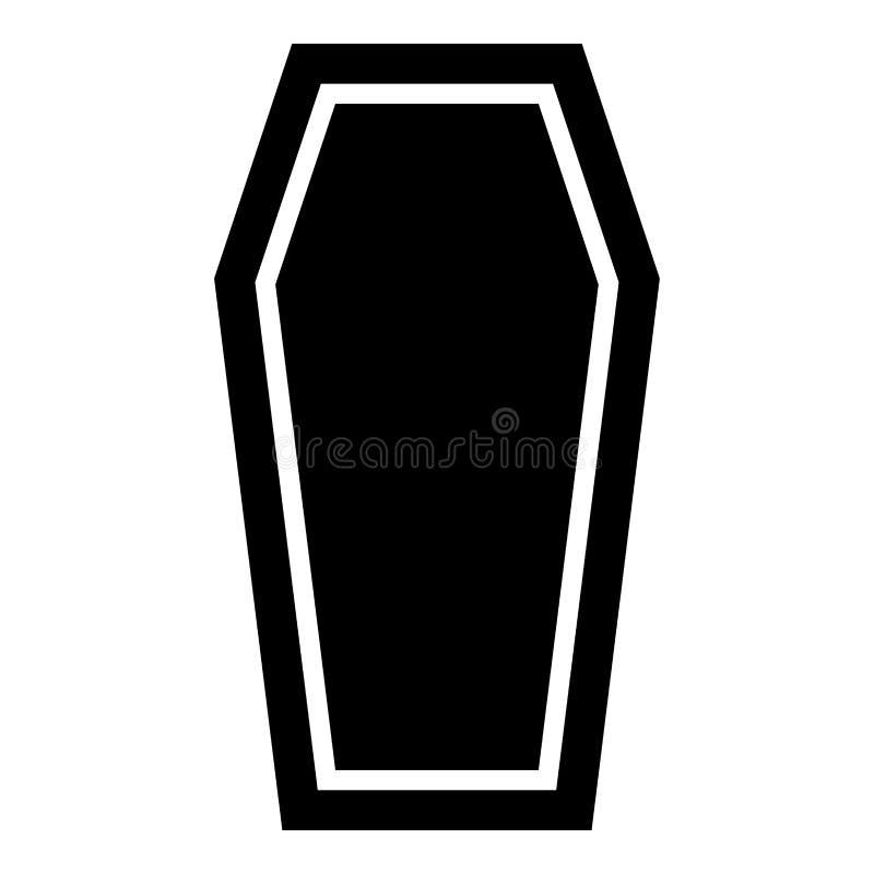 Trumiennego Asekuracyjnego pojęcie pogrzebu tematu ikony czerni koloru Pokrywkowa trumienna ilustracja ilustracji