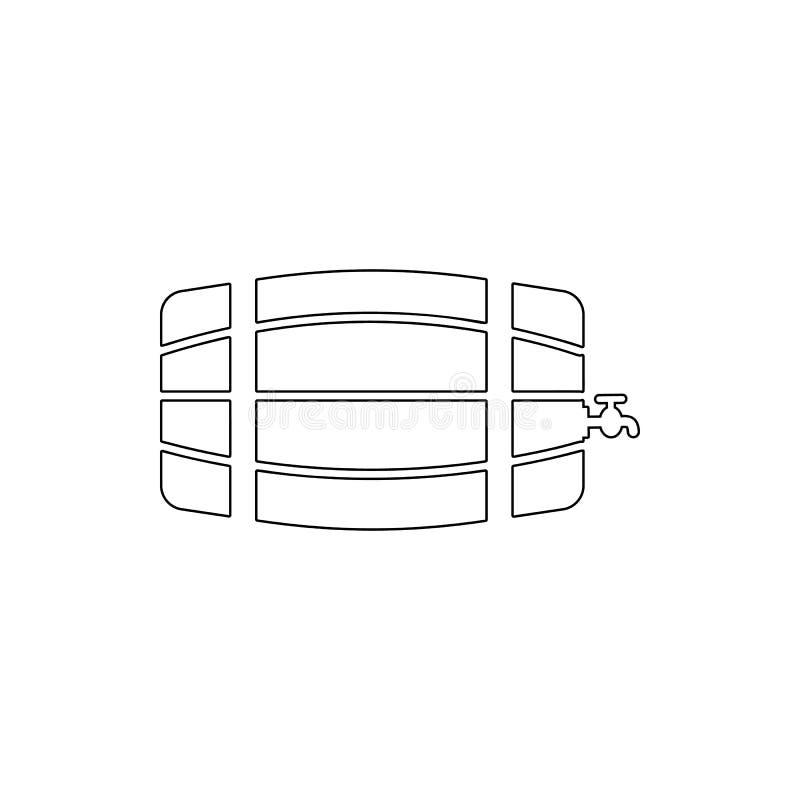 trumma av vinsymbolen Beståndsdel av stången för mobilt begrepp och rengöringsdukappssymbol Tunn linje symbol för websitedesignen royaltyfri illustrationer