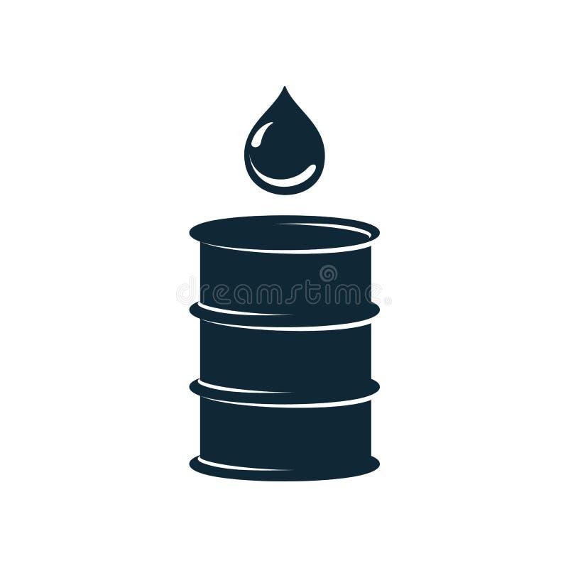 Trumma för olje- bränsle för vektor, enkel plan symbol för olje- droppe royaltyfri illustrationer