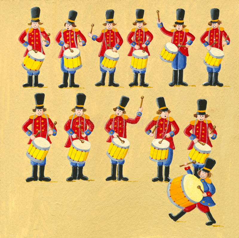 Trumma för tolv handelsresande royaltyfria bilder