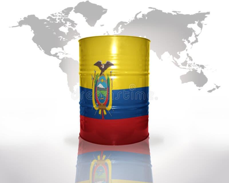 Trumma med ecuadorianflaggan vektor illustrationer