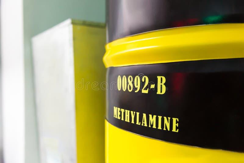 Trumma med methylaminen fotografering för bildbyråer