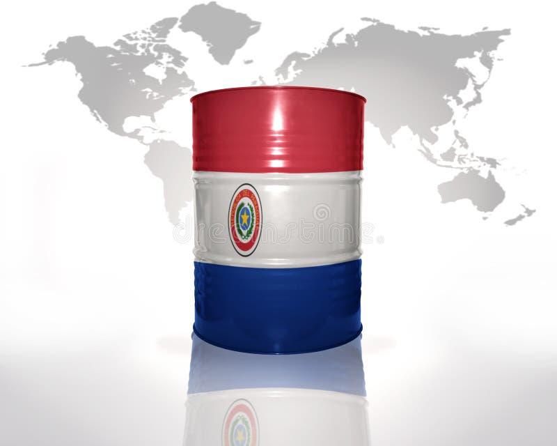 Trumma med paraguayanflaggan royaltyfri illustrationer