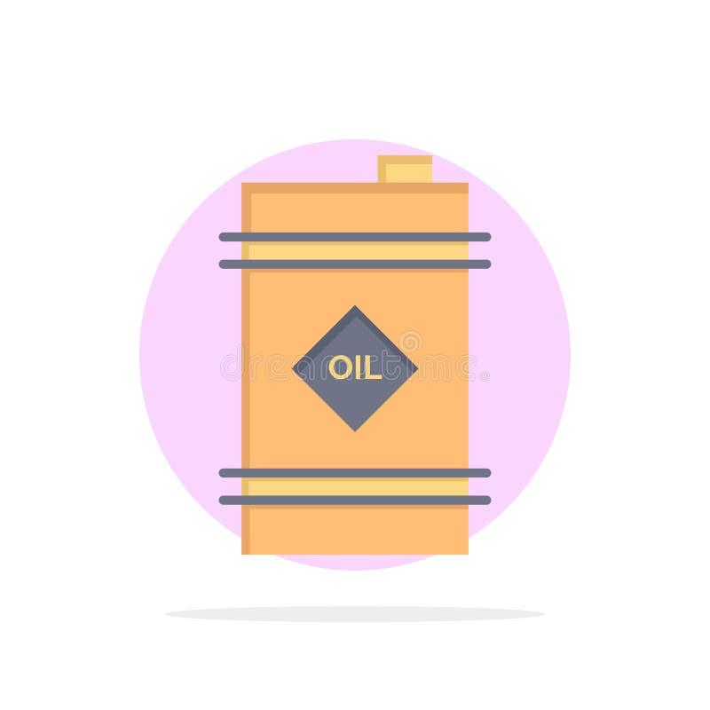 Trumma olja, oljatrumma, symbol för färg för giftlig abstrakt cirkelbakgrund plan vektor illustrationer