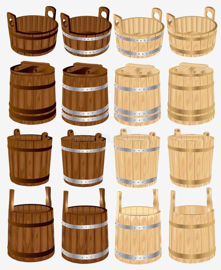 trummahinkhinken badar trä stock illustrationer