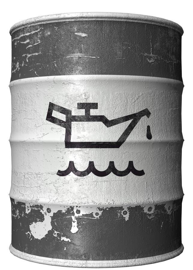 trummaoljesymbol vektor illustrationer