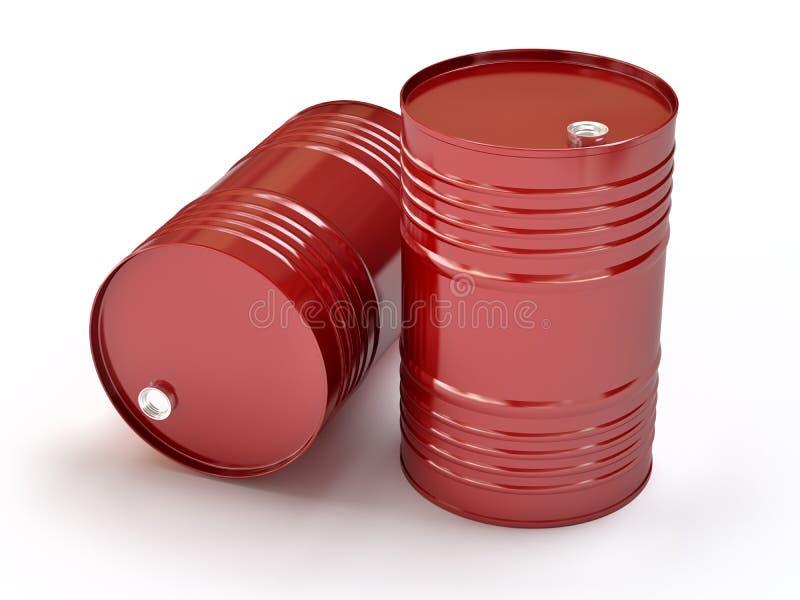 trummor oil red royaltyfri illustrationer