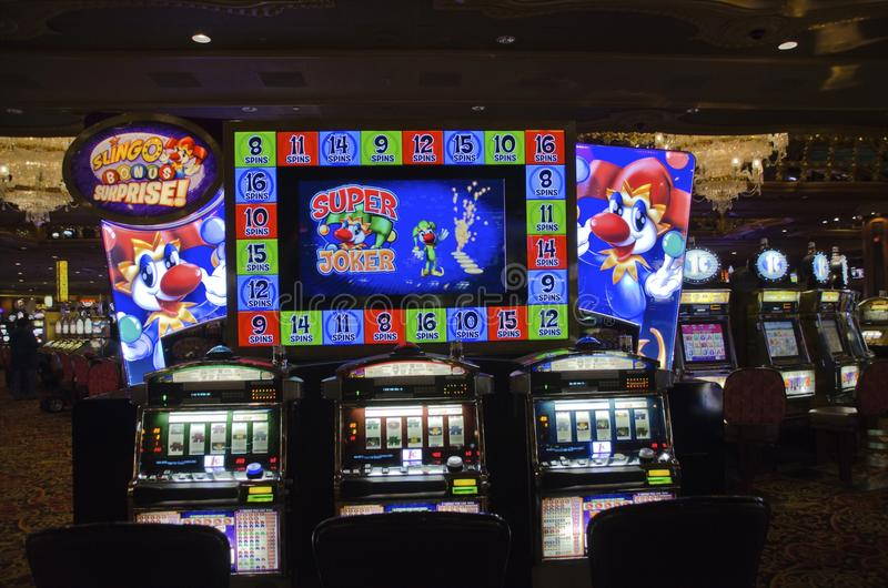 Trump Atlantic City Slot Machines stock photo