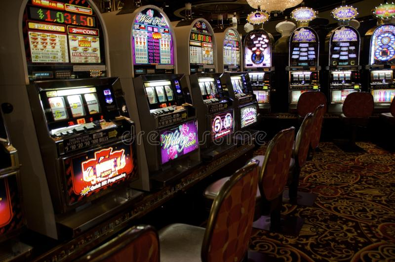 Trump Atlantic City Slot Machines stock images