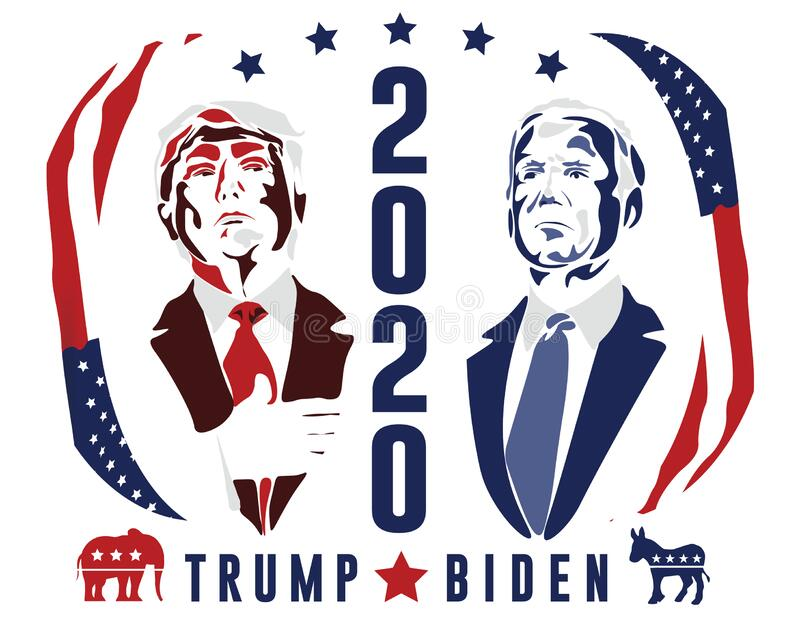 Trump Biden Presidential Election 2020 Campaign Sign Poster Flyer To Vote Editorial Stock Image Illustration Of Layered Formats 182197349