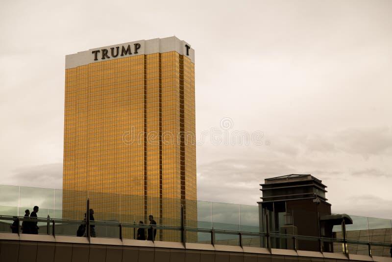 Trump Casino. Las Vegas, Trump Casino outside view evening stock photo